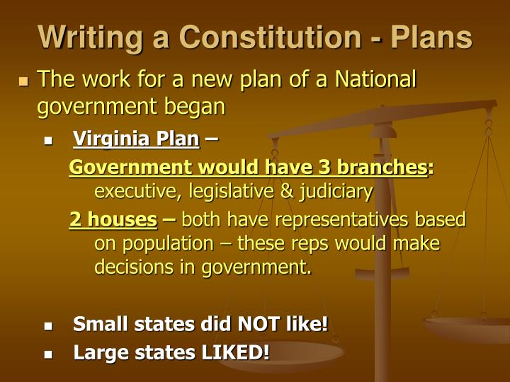 Writing a Constitution - Plans