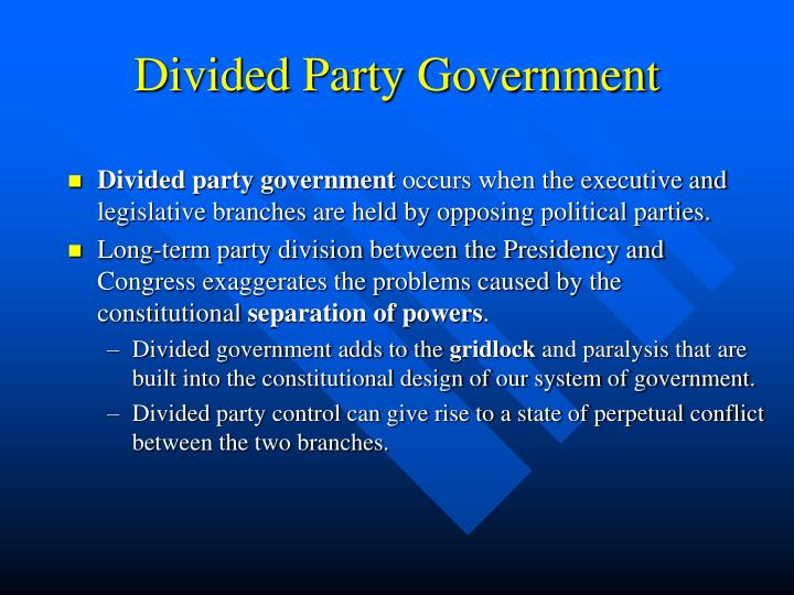 Divided Party Government