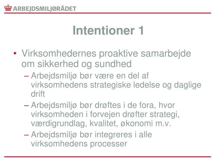 Intentioner 1