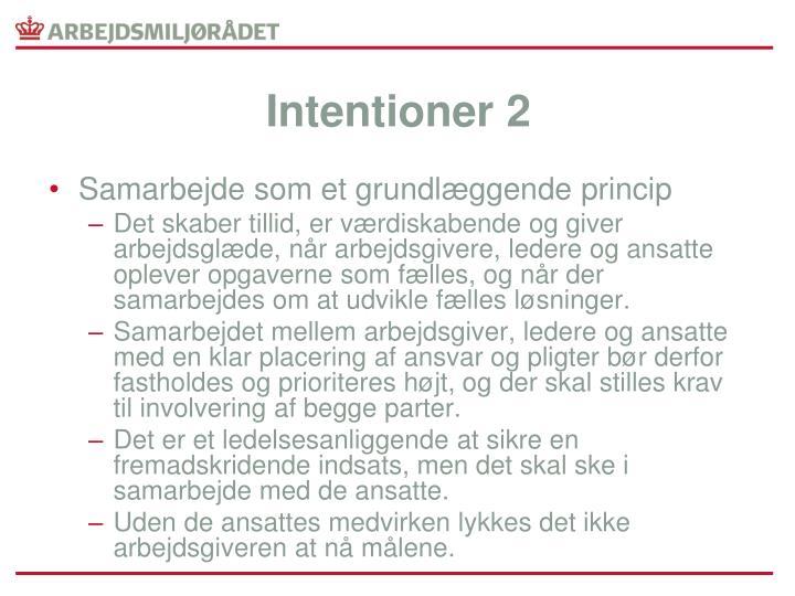 Intentioner 2
