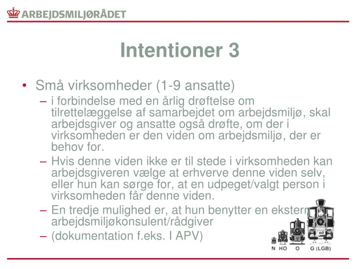 Intentioner 3