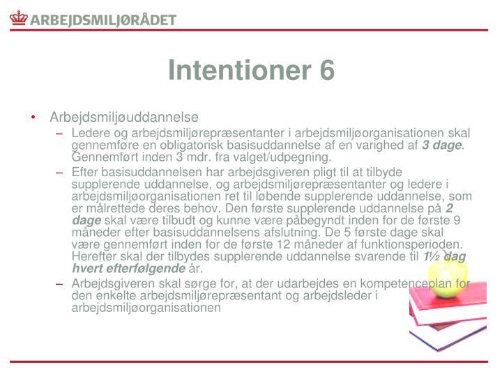 Intentioner 6
