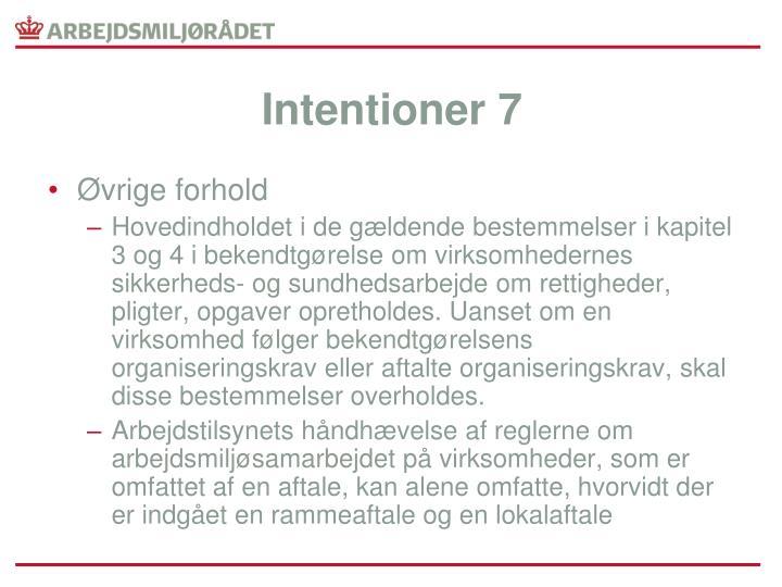 Intentioner 7