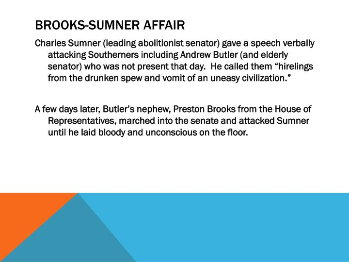 Brooks-Sumner Affair