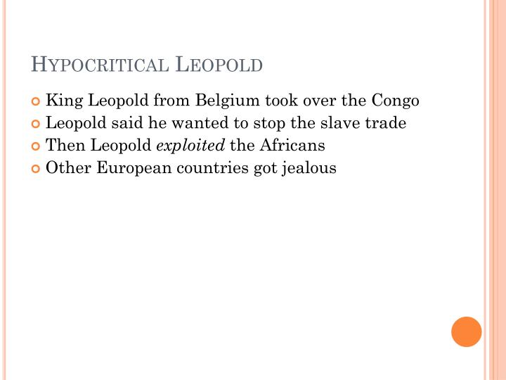 Hypocritical Leopold