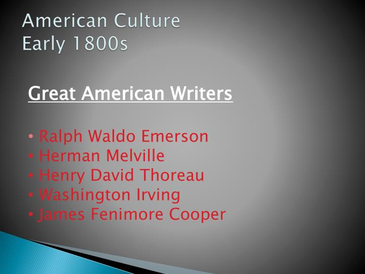 American culture today essays