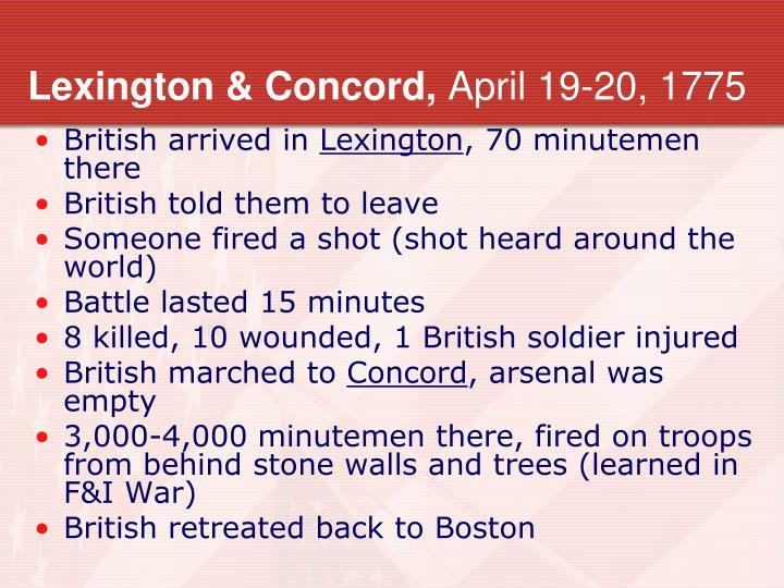 Lexington & Concord,