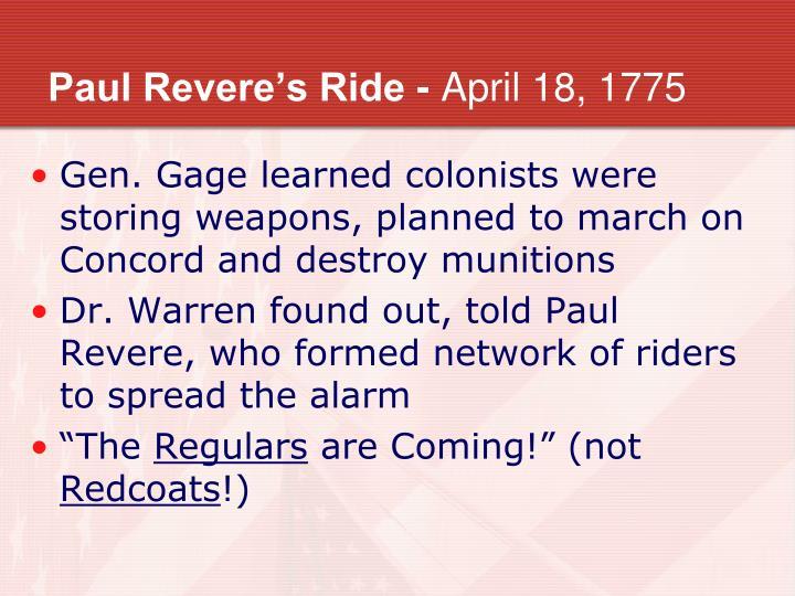 Paul Revere's Ride -