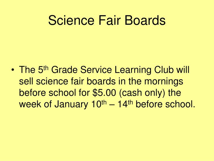 Science Fair Boards