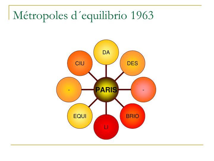 Métropoles d´equilibrio 1963