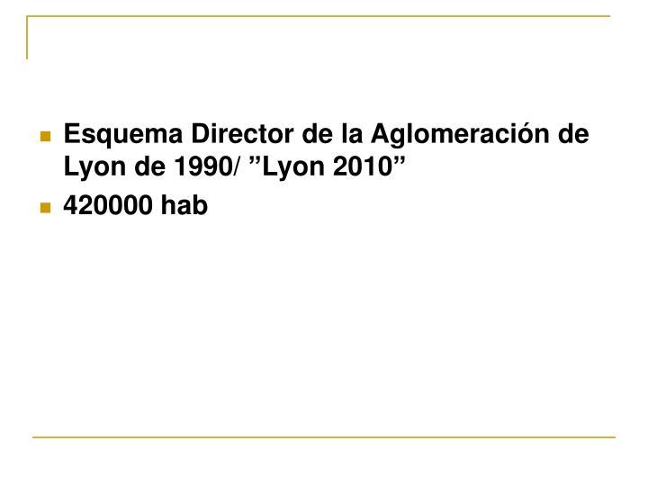 """Esquema Director de la Aglomeración de Lyon de 1990/ """"Lyon 2010"""""""