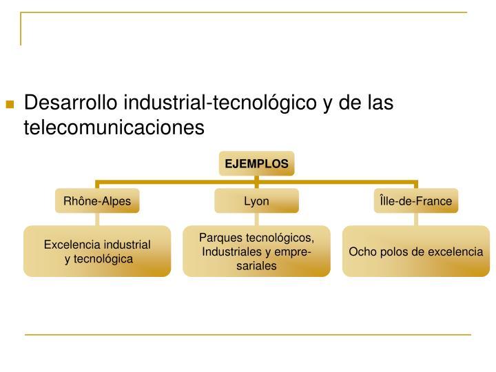 Desarrollo industrial-tecnológico y de las telecomunicaciones