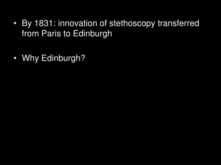 By 1831: innovation of