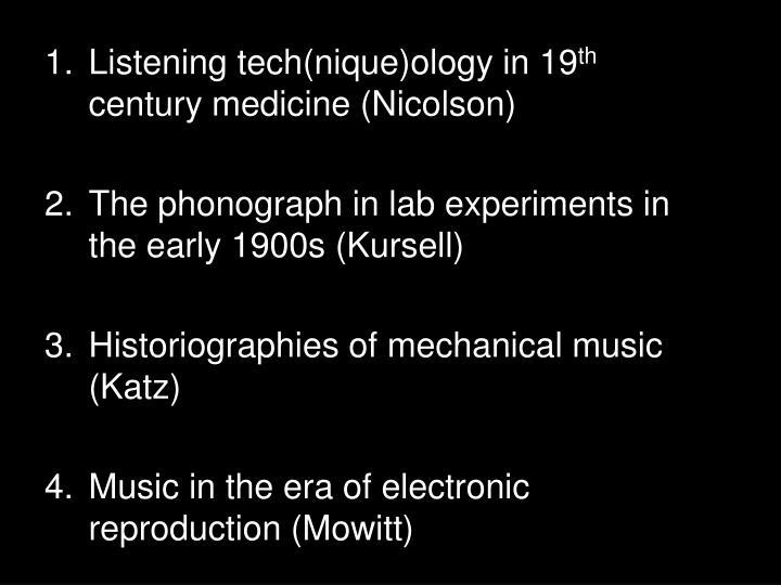 Listening tech(
