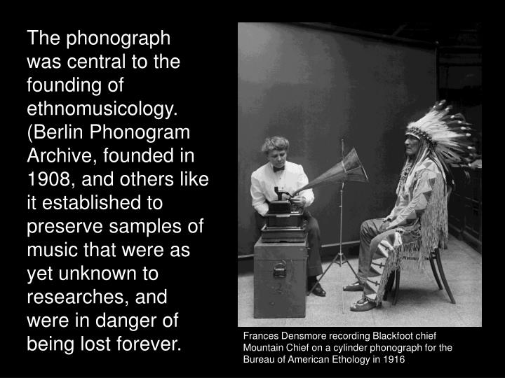 The phonograph was central to the founding of