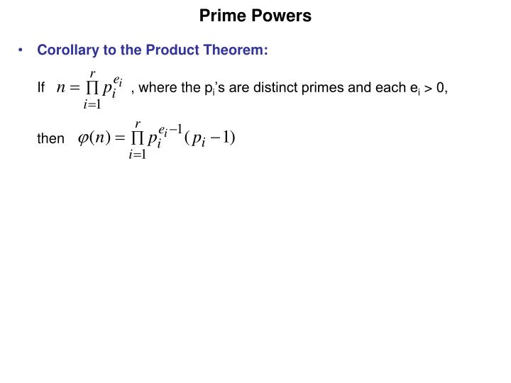 Prime Powers