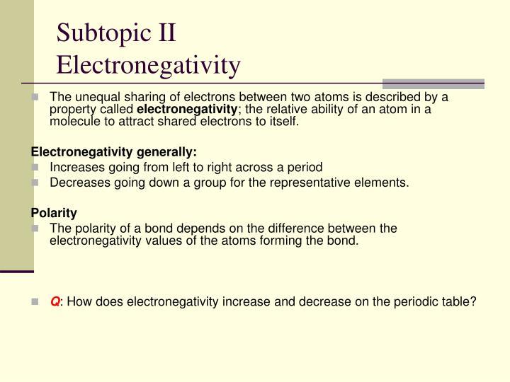 Subtopic II