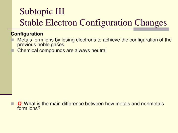 Subtopic III