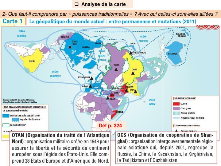Analyse de la carte