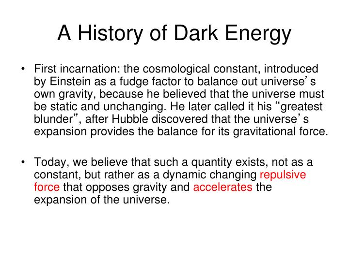 A History of Dark Energy