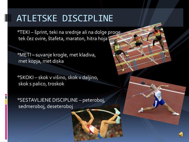 ATLETSKE DISCIPLINE