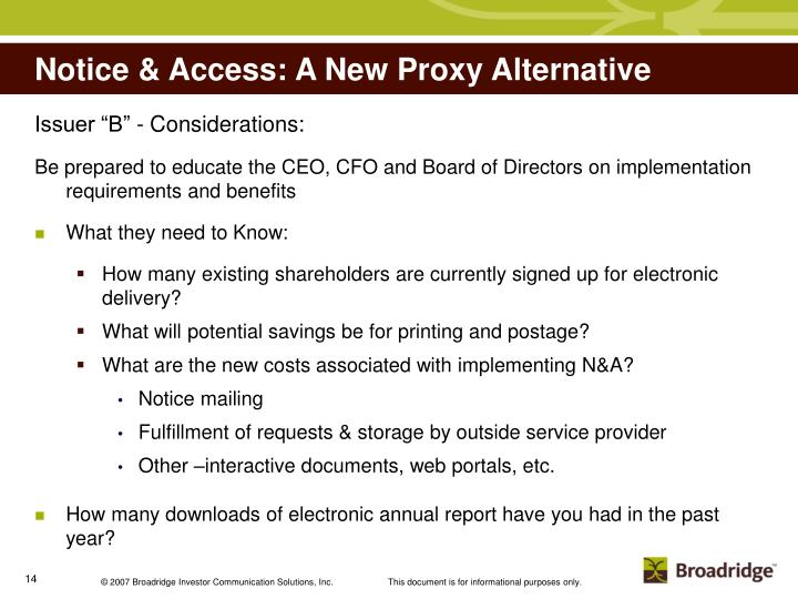 Notice & Access: A New Proxy Alternative