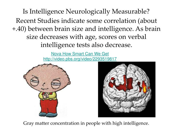 Is Intelligence Neurologically Measurable?