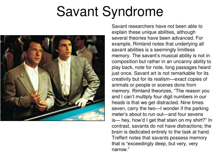 Savant Syndrome