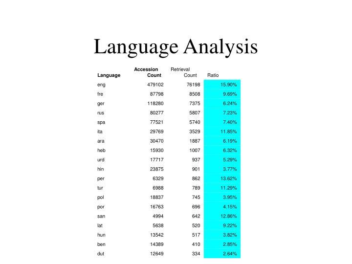 Language Analysis