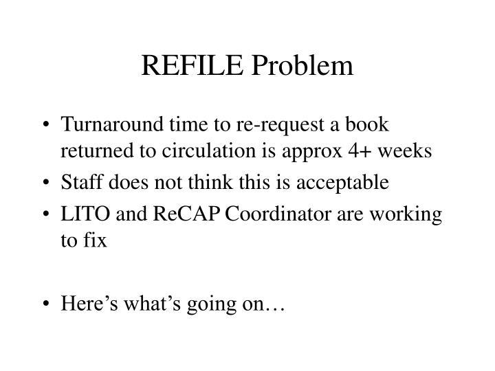REFILE Problem