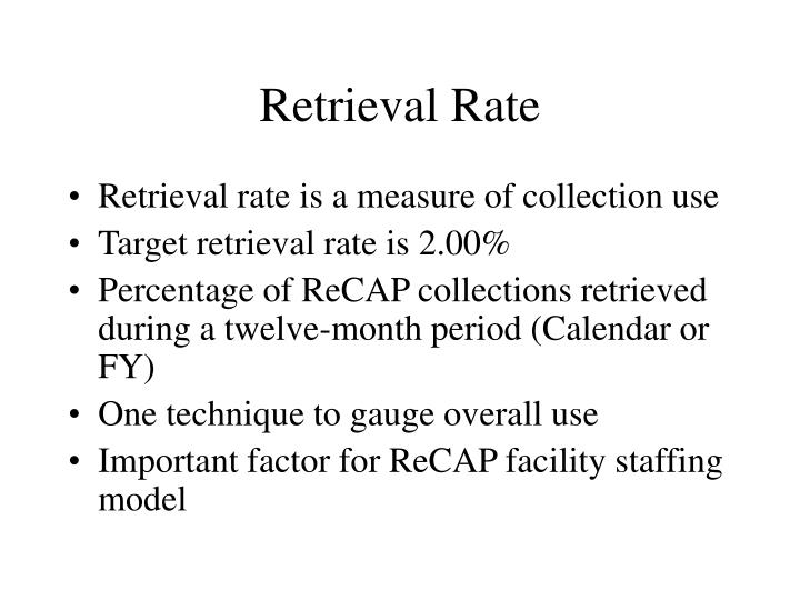 Retrieval Rate