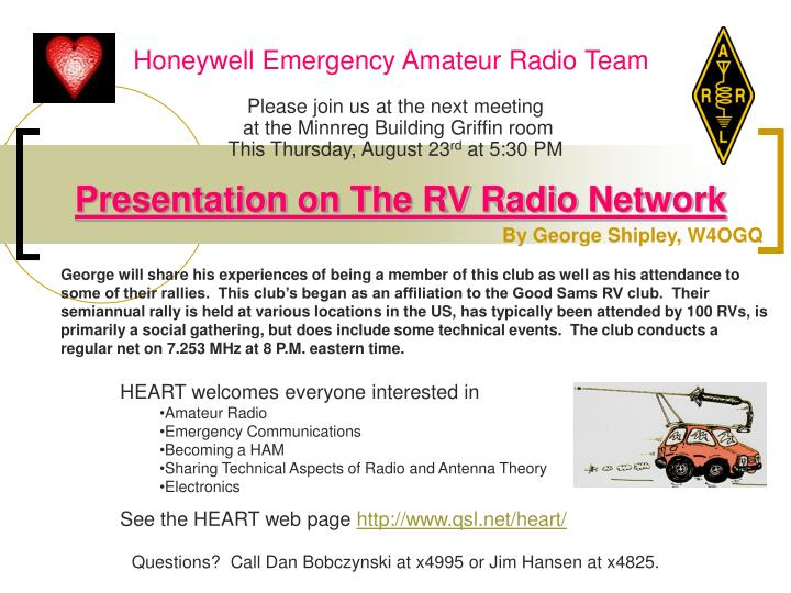 Honeywell emergency amateur radio team