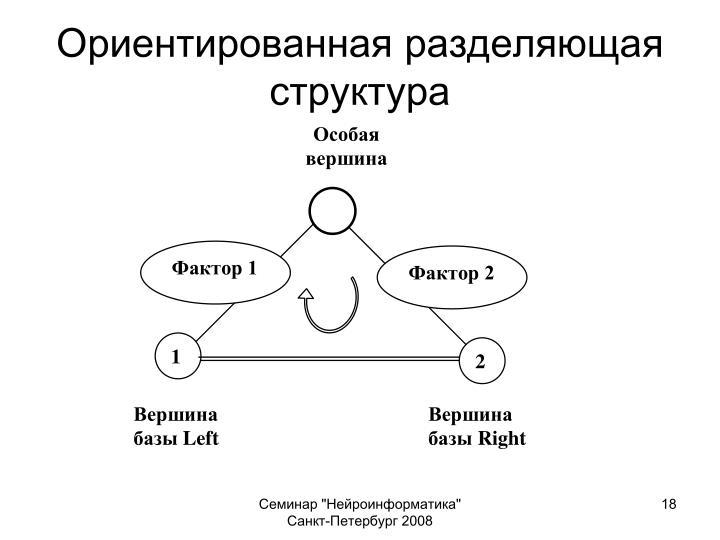 Ориентированная разделяющая структура