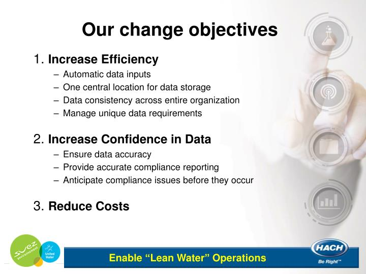 Our change objectives