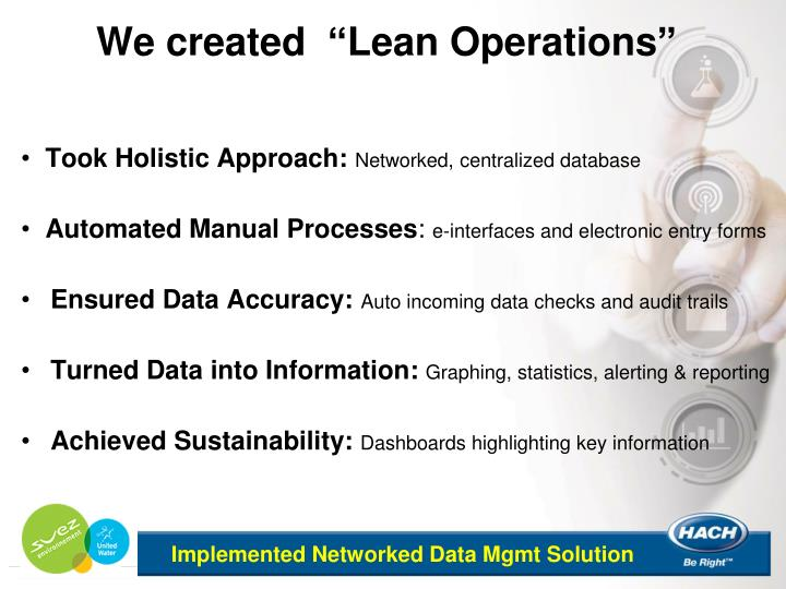 "We created  ""Lean Operations"""