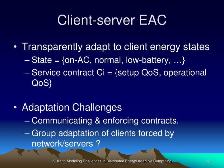 Client-server EAC