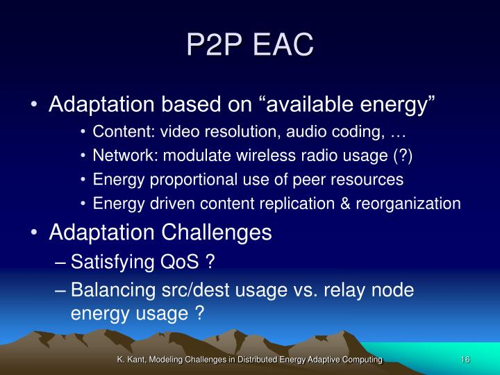 P2P EAC