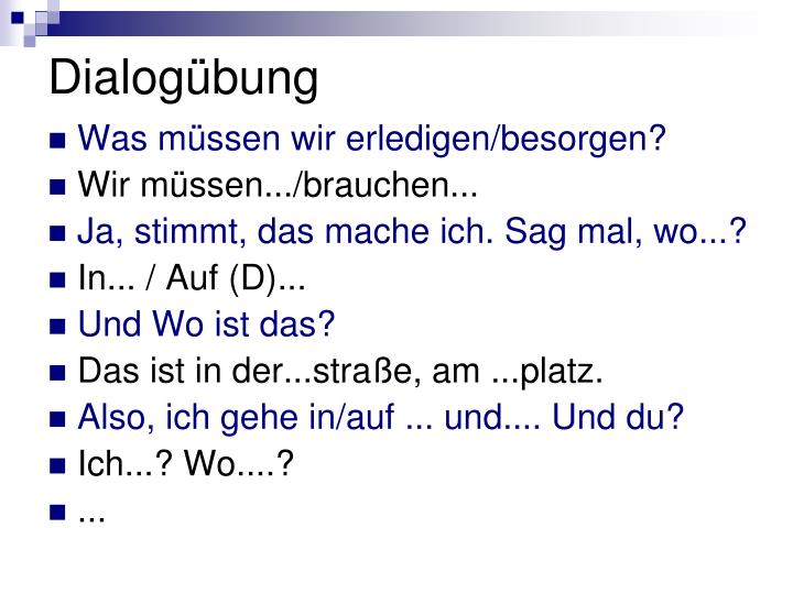 Dialogübung