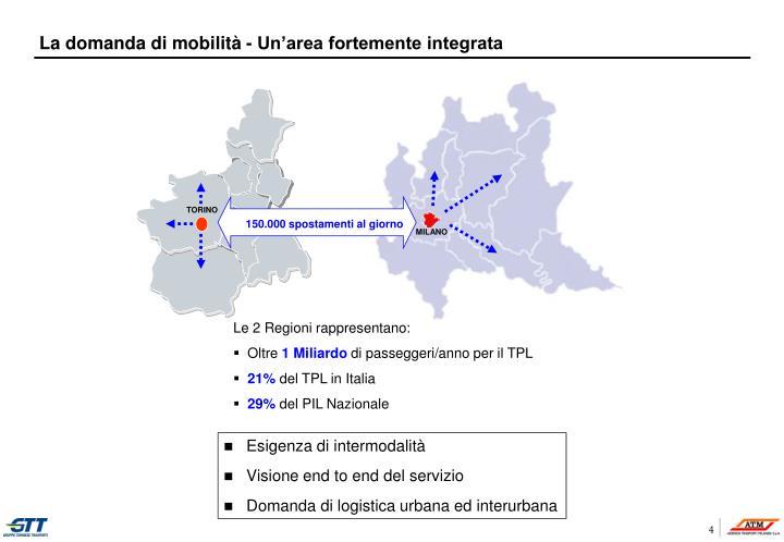 La domanda di mobilità - Un'area fortemente integrata