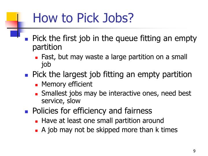 How to Pick Jobs?
