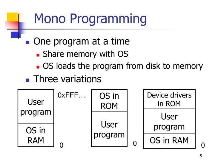 Mono Programming