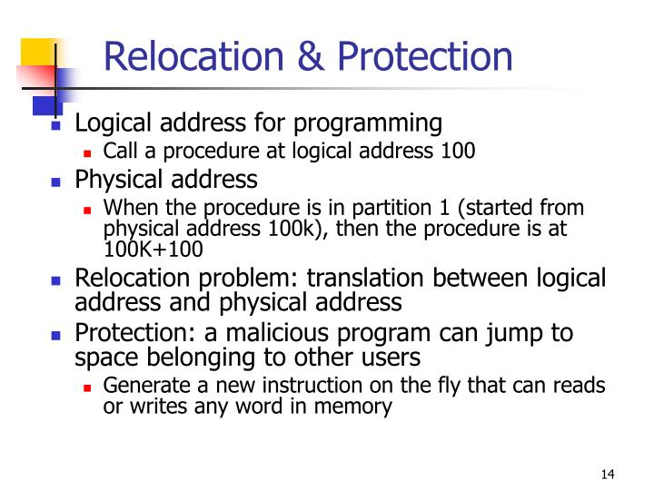 Relocation & Protection