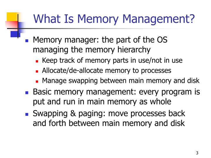 What Is Memory Management?