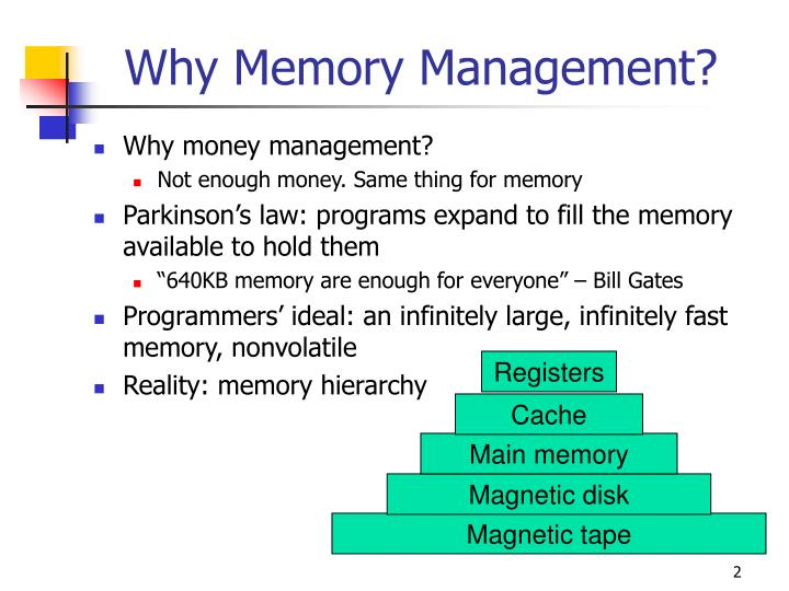 Why Memory Management?