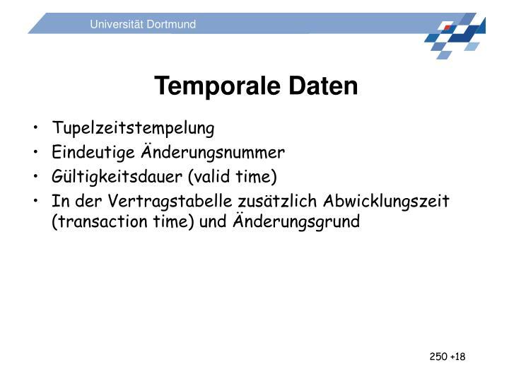 Temporale Daten