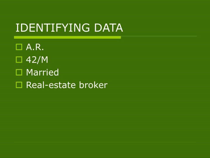 IDENTIFYING DATA
