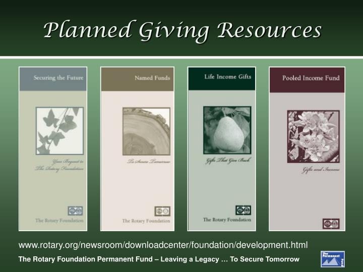 Planned Giving Resources