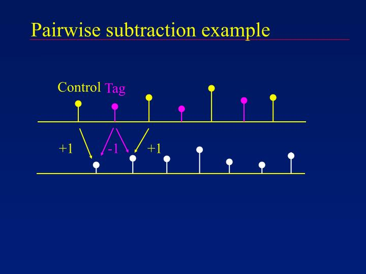 Pairwise subtraction example