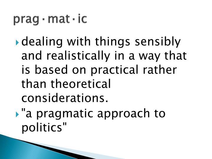 prag·mat·ic