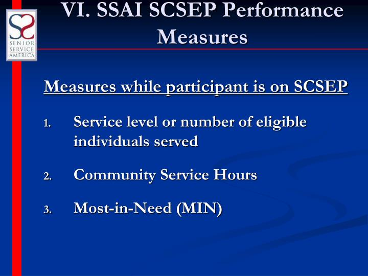 VI. SSAI SCSEP Performance Measures